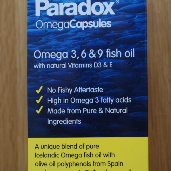 Paradox Fish Oil 1000mg 60 softgel capsules 1