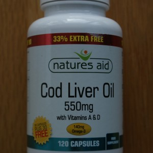 Natures Aid Cod Liver Oil 550mg 33% Extra Free