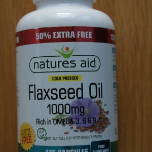 Natures Aid Flaxseed 1000mg 135 capsules 50% extra free