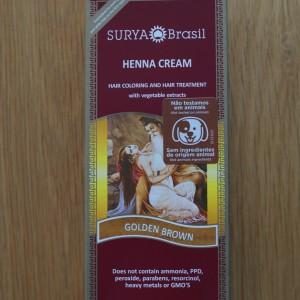 Surya Brasil Golden Brown Henna Cream 2.31fl.oz/70ml