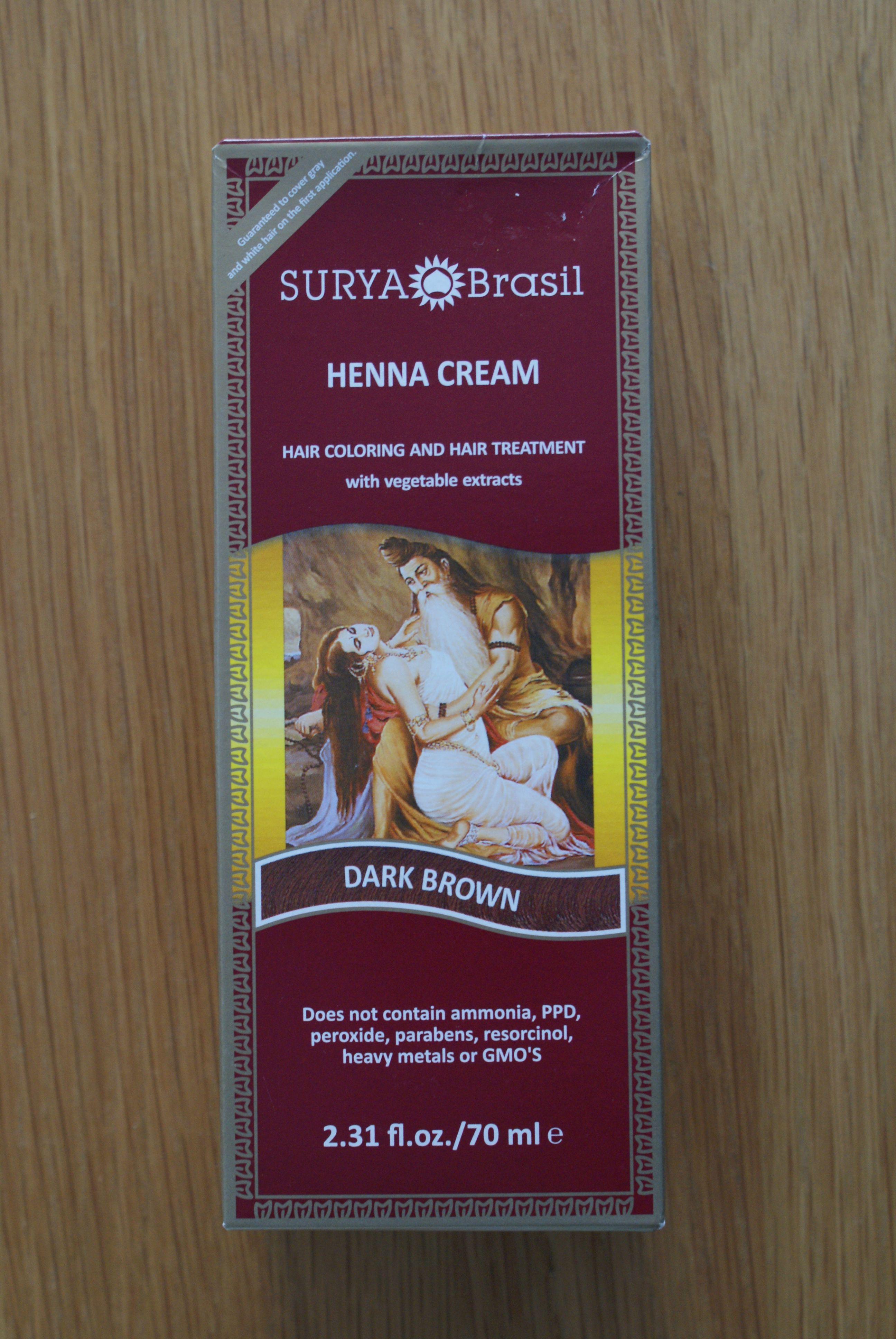 Surya Brasil Dark Brown Henna Cream 231 Floz70ml Fine Fettle Foods