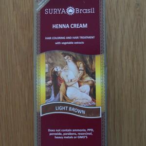 Surya Brasil Light Brown Henna Cream 2.31fl.oz/70ml