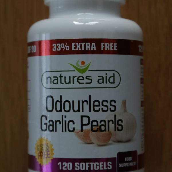 Natures Aid Odourless Garlic Pearls 120 softgels 1